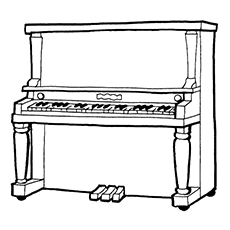 10 Beautiful Piano Coloring Pages For Your Little One