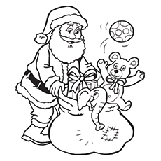 coloring pages of santa claus # 4