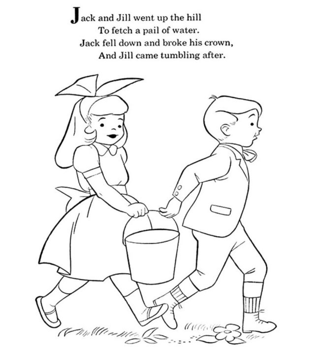 Top 23 Jack And Jill Coloring Pages For Your Little One