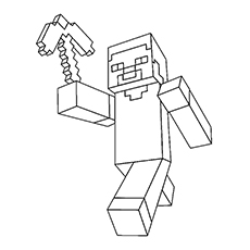minecraft printable coloring pages # 5