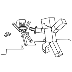 minecraft printable coloring pages # 17
