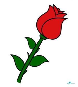 rose draw step easy momjunction drawing simple flower steps drawings guide flowers beginners