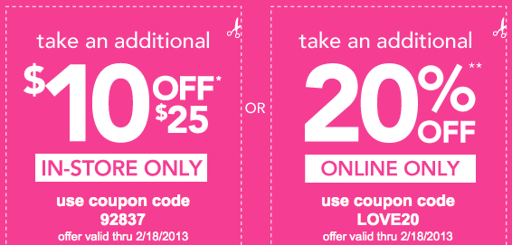 Payless Shoesource: $10 Off $25 Coupon (in-store Only