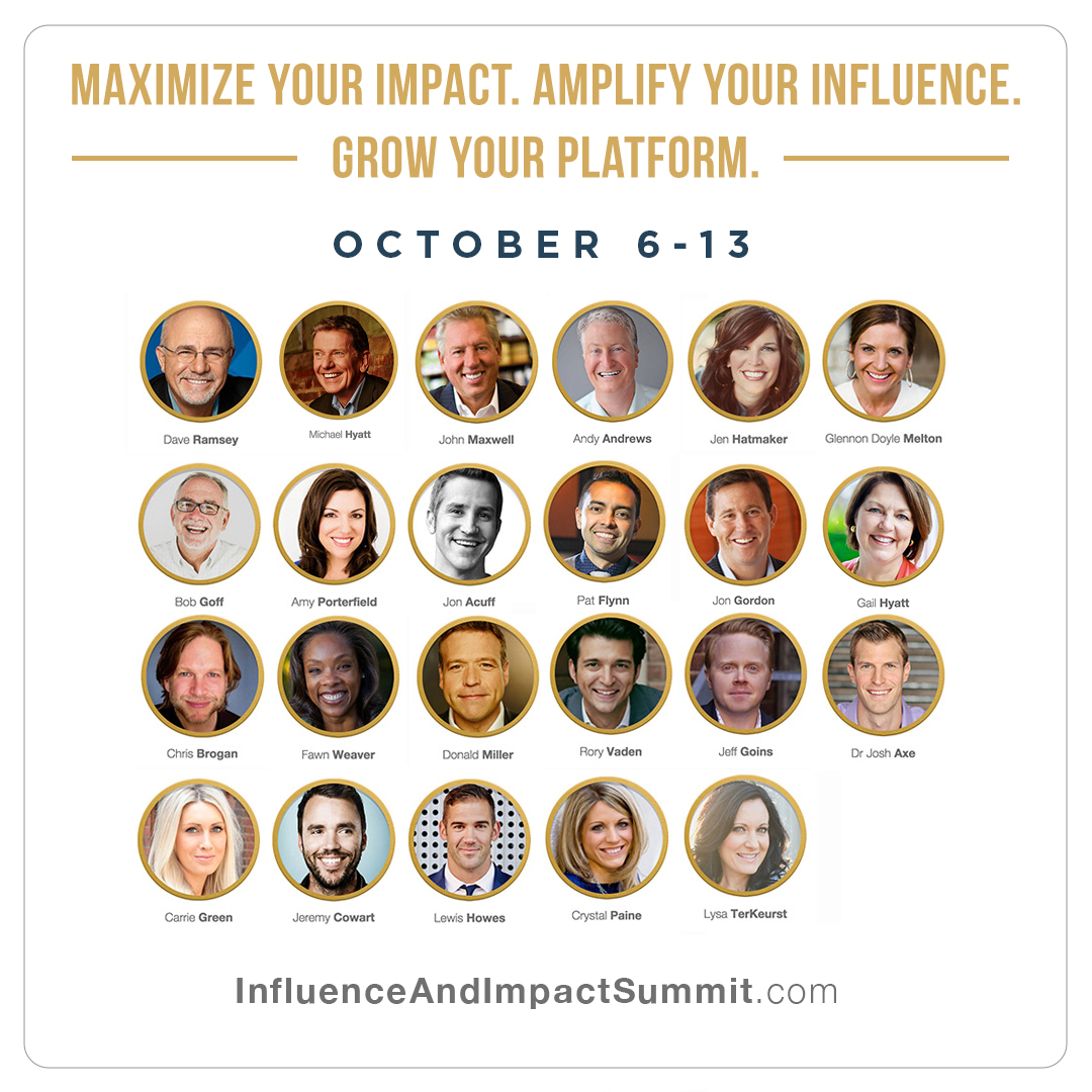 Speakers at the Influence & Impact Summit
