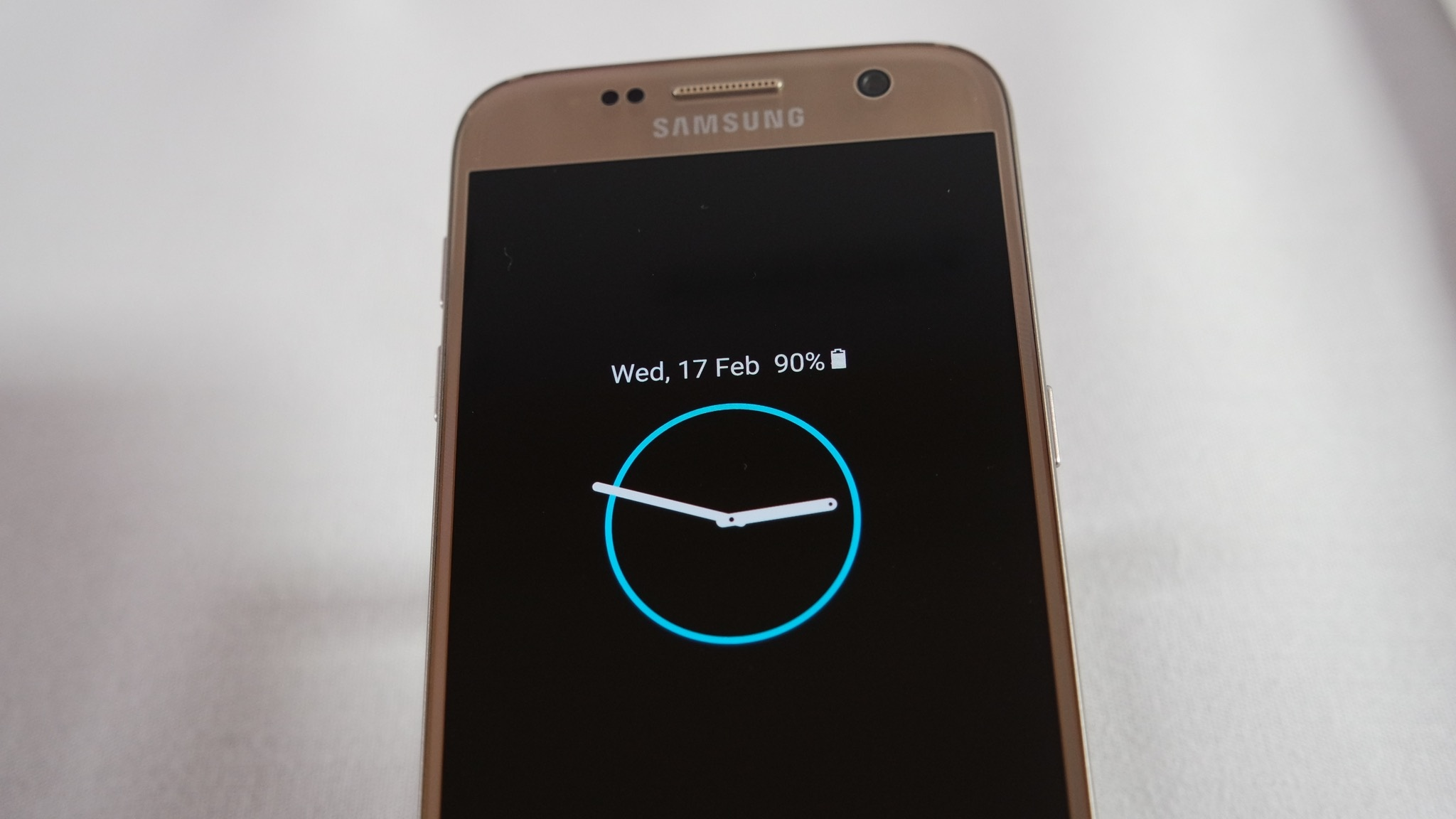 Samsung Galaxy S7 con función always on en pantalla
