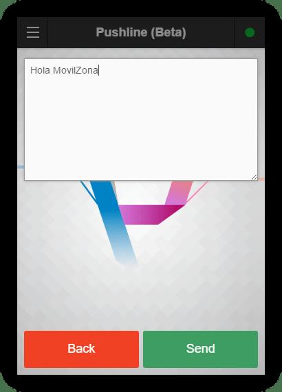 Enviar nota desde Google Chrome a Android con Pushline
