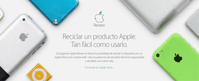 Programa verde de reciclaje de Apple
