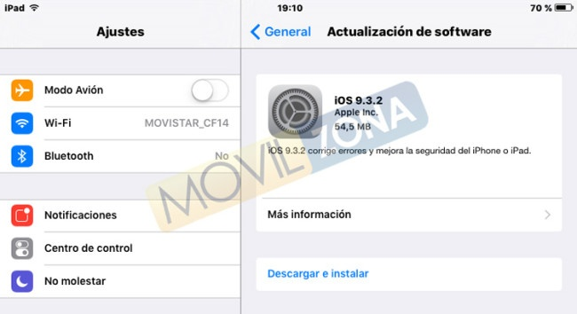 Descarga de iOS 9.3.2
