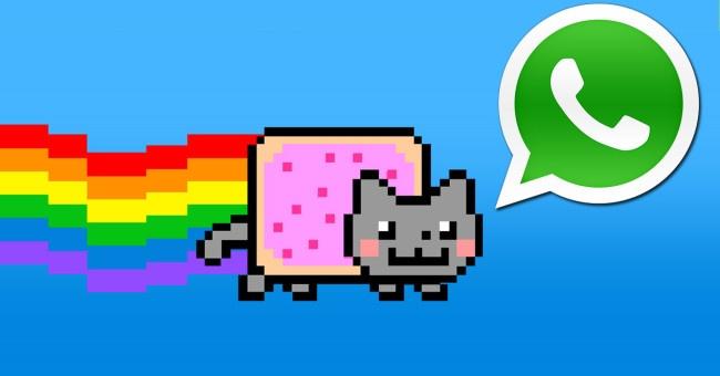 nyan cat con logo de whatsapp