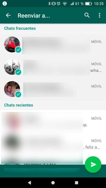 WhatsApp reenvio multiple