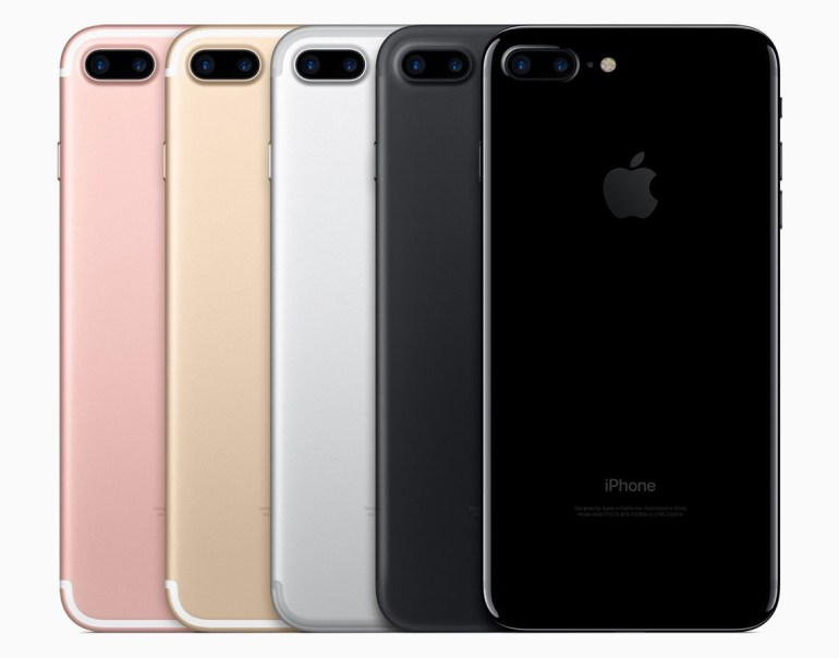 iPhone 7 en color negro, oro, plata y rosa
