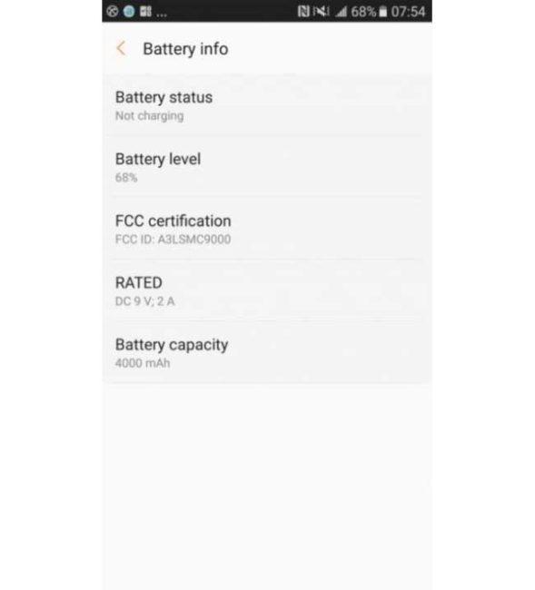 batería del Samsung Galaxy C9