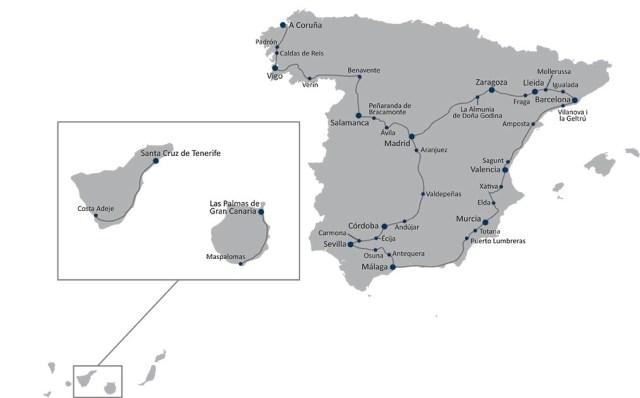 ruta del estudio de connect en españa