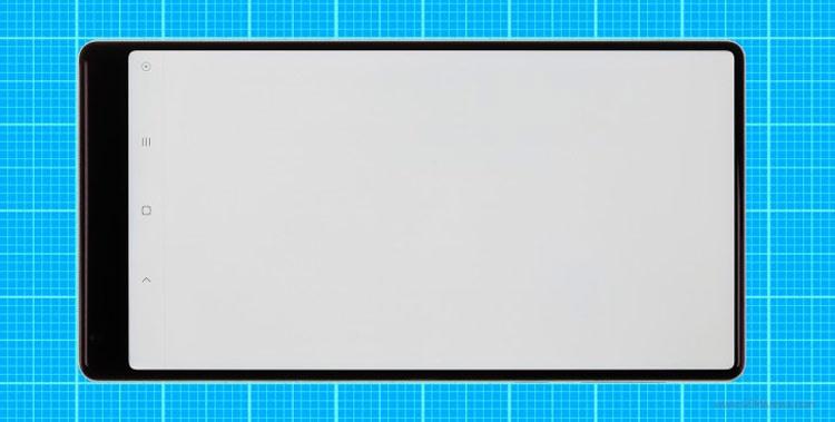 Medición del marco de pantalla del Xiaomi Mi Mix