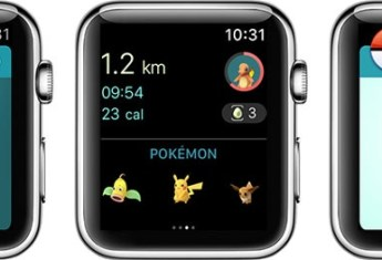 Interfaz de Pokémon GO en el Apple Watch
