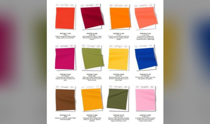 Pantone Fashion Color Trend Report for spring/summer.