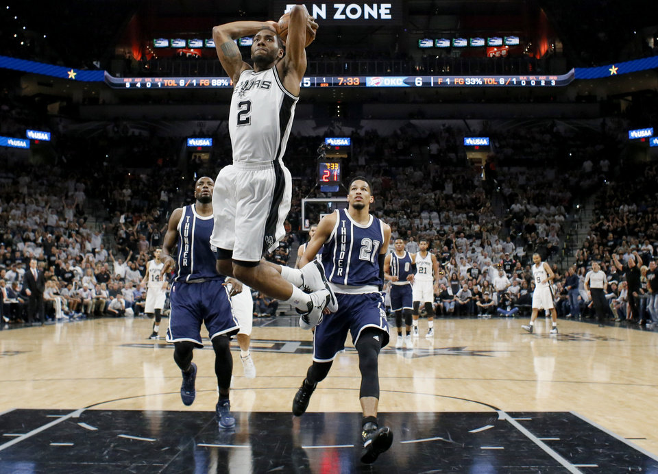 Image result for kawhi leonard dunking 2016