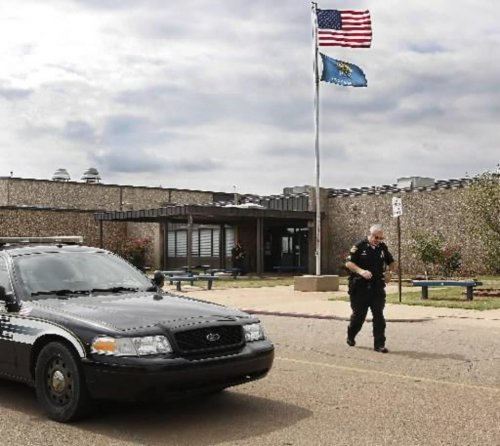 small resolution of photo stillwater police in front of stillwater junior high school where student cade poulos