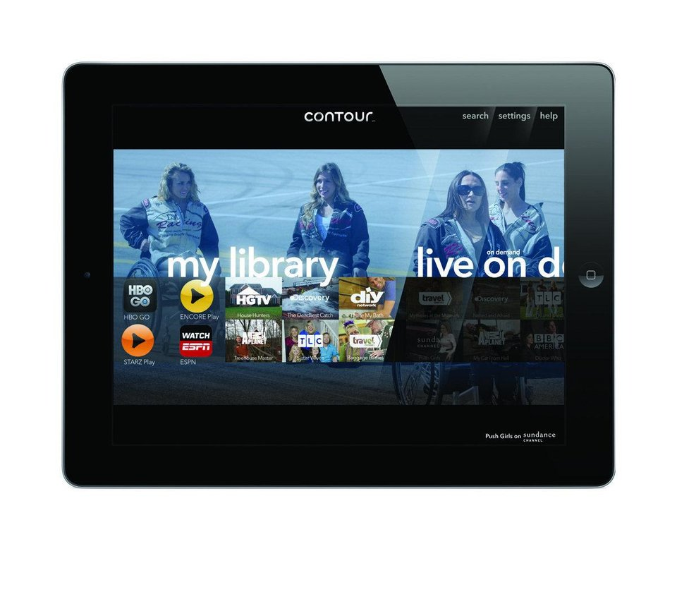 medium resolution of the home screen for cox communication s contour app is pictured in this press image provided by cox communications
