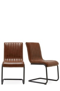 Next Set Of 2 Bernie Faux Leather Dining Chairs - Tan |  ...