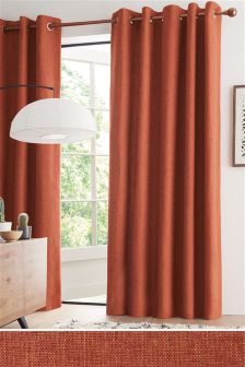 Buy Curtains Orange Eyelet From The Next UK Online Shop