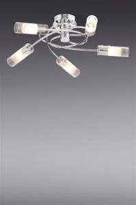 Silver Ceiling Lights | Silver Flush & Hanging Ceiling ...