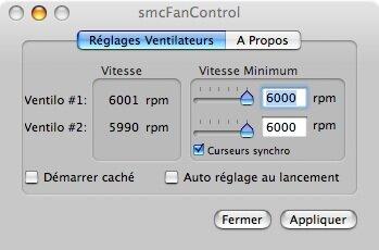 smcFanControl : contrôler son ventilateur sur Mac Intel