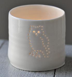 Porcelain Owl Tealight