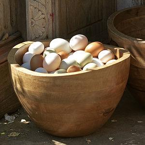 Mango Wood Sarisha Bowl Large