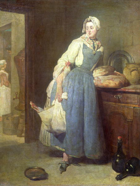 kitchen maid bosch sinks the with provisions 1739 painting jean baptiste simeon chardin oil