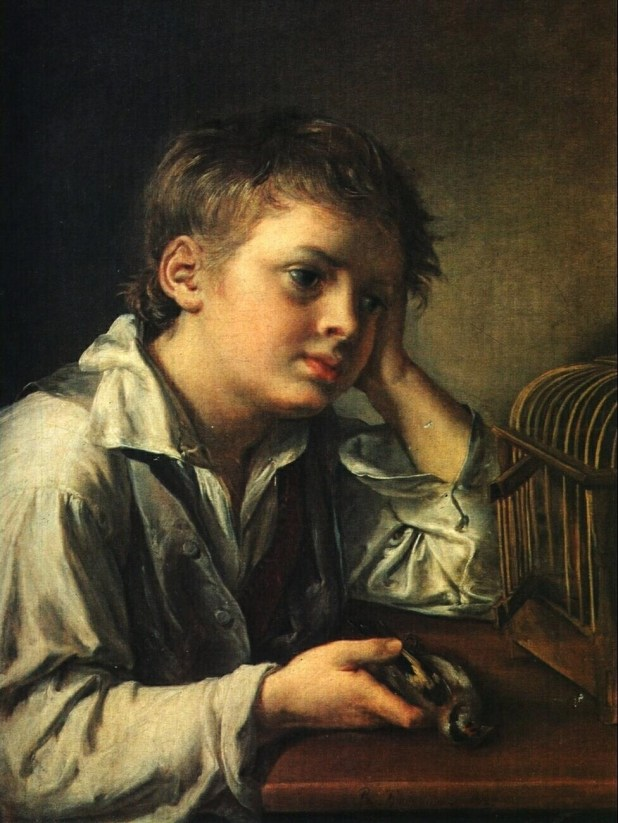 Boy with a Dead Goldfinch Painting | Vasily Tropinin Oil Paintings