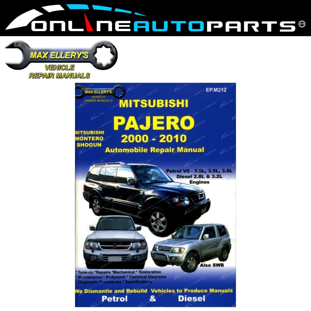 medium resolution of car repair book mitsubishi pajero nm np ns nt 2000 10 max ellery workshop manual
