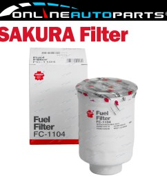 sakura diesel fuel filter fc 1104 interchangeable with ryco z699 [ 1600 x 1600 Pixel ]