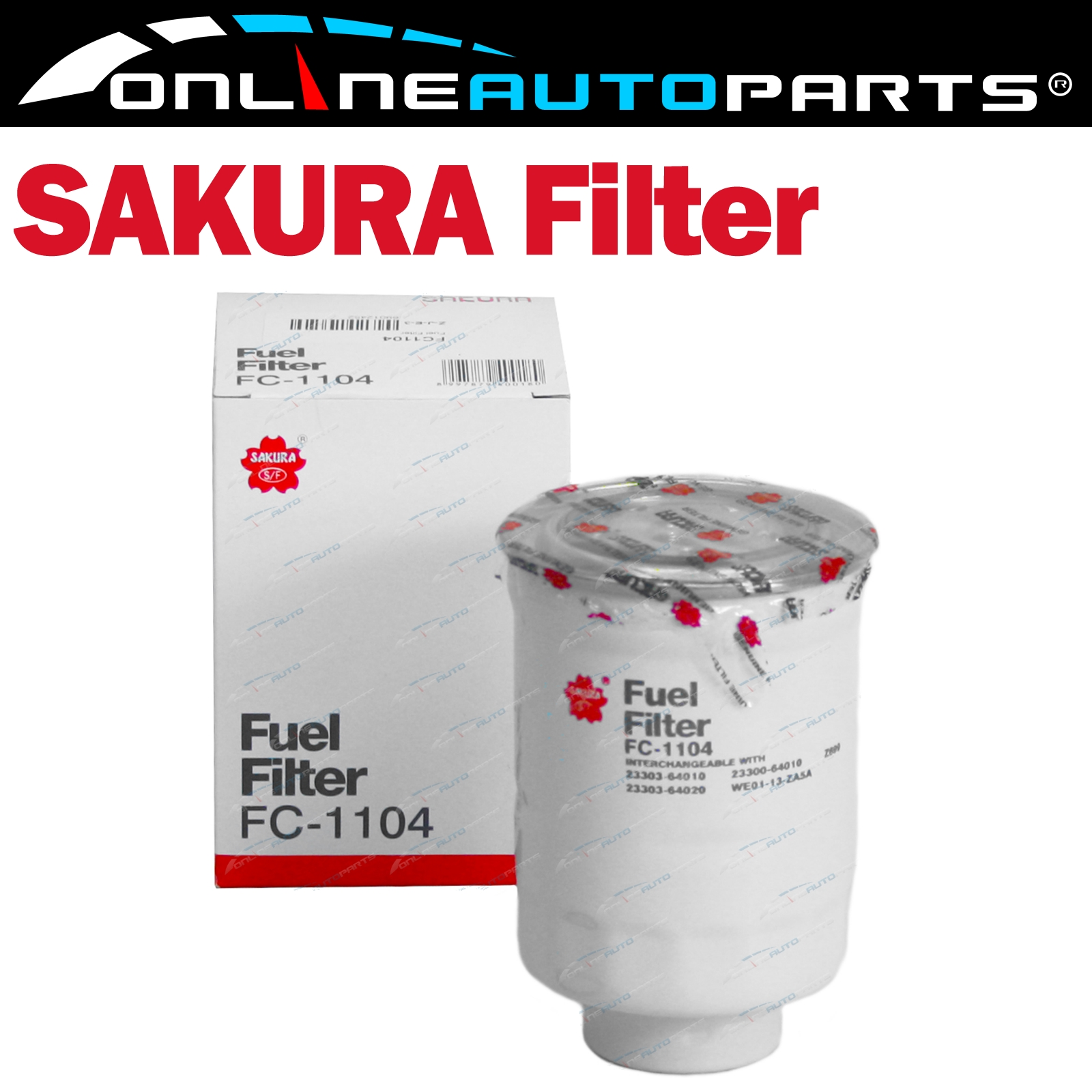 hight resolution of sakura diesel fuel filter fc 1104 interchangeable with ryco z699