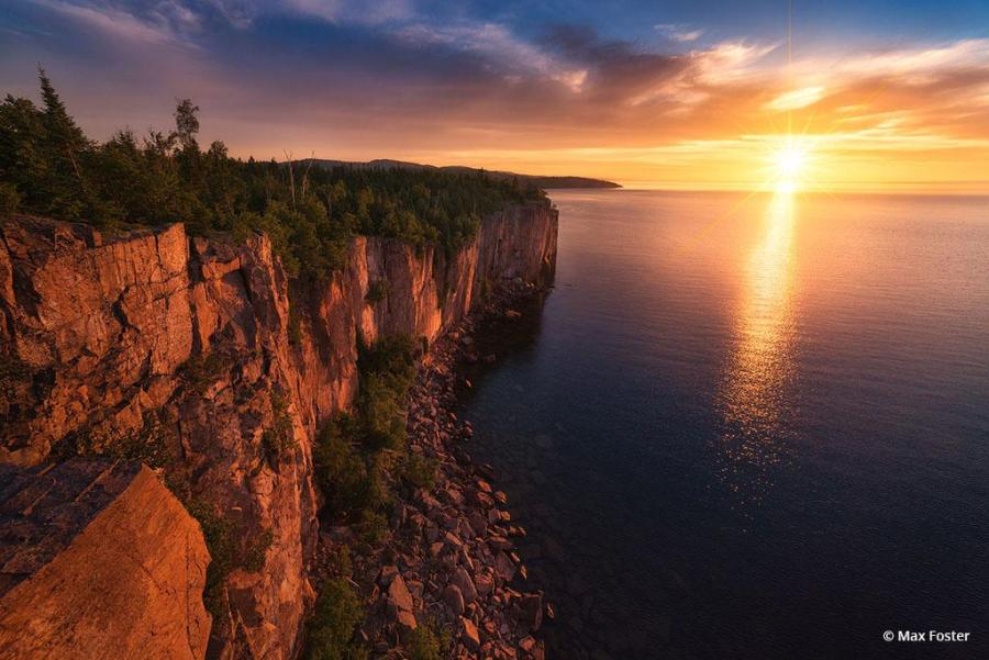 """Congratulations to Max Foster for winning the recent Your Local Wilderness Assignment with the image, """"Superior Sunrise."""""""
