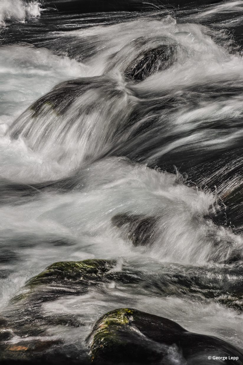 McKenzie River rapids photographed with the Canon EOS R