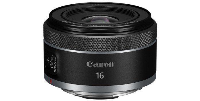 Image of the Canon RF16mm F2.8 STM