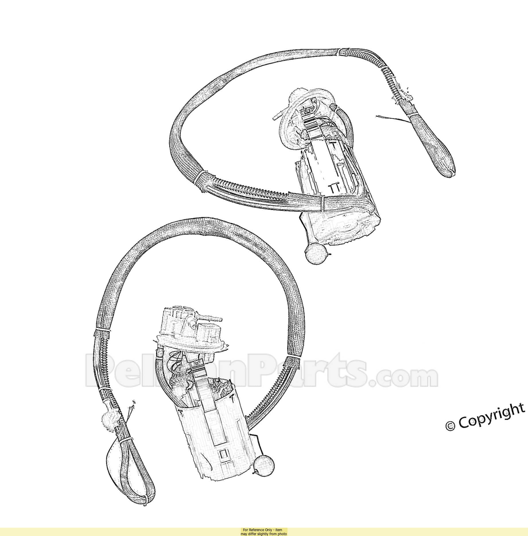 Fuel Pump Assembly With Fuel Level Sending Unit
