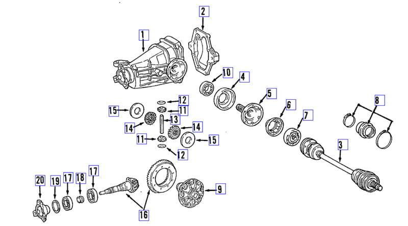 Mercedes-Benz SLK 230 Rear Wheel Bearing Replacement