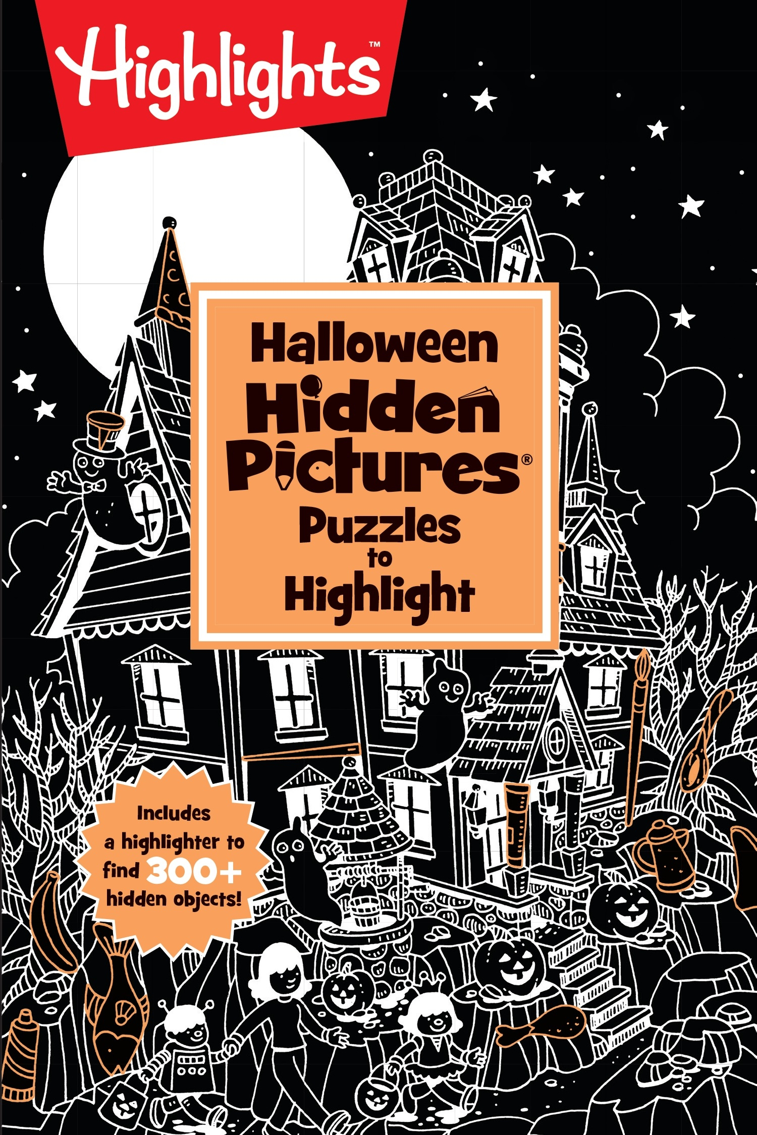 Halloween Hidden Pictures Puzzles To Highlight By