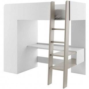 lit mezzanine avec bureau et armoire tom pour enfant