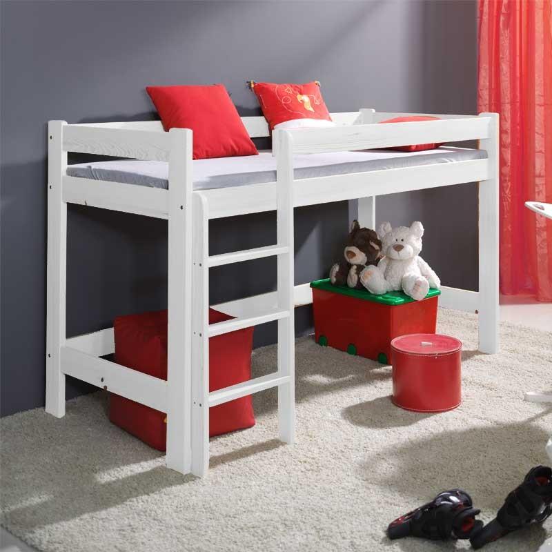 lit mezzanine blanc laura personnalisable pour chambre enfant
