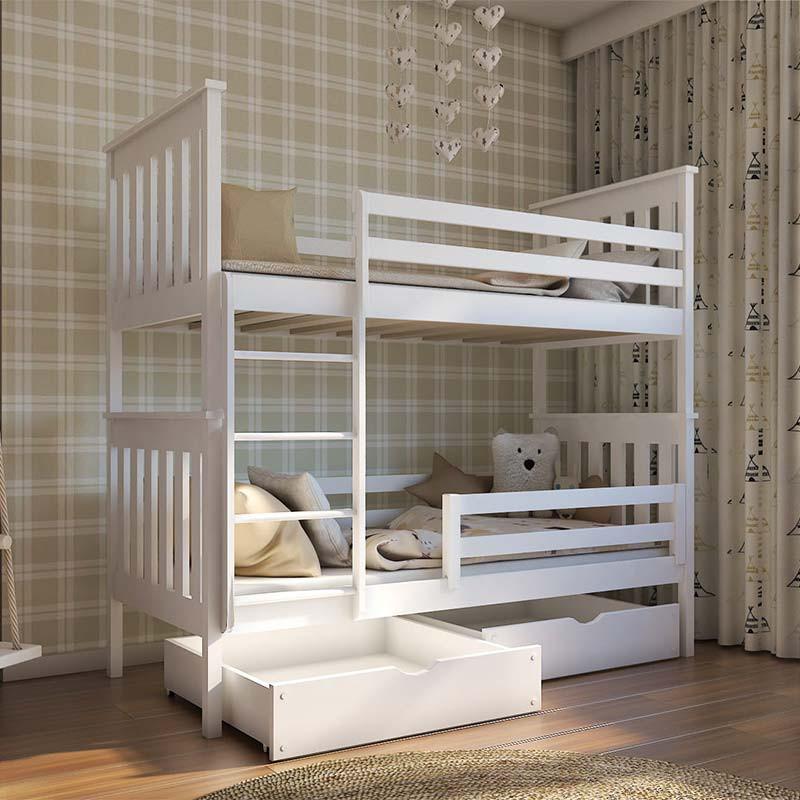 lit superpose blanc 90x190 cm bruno pour enfant