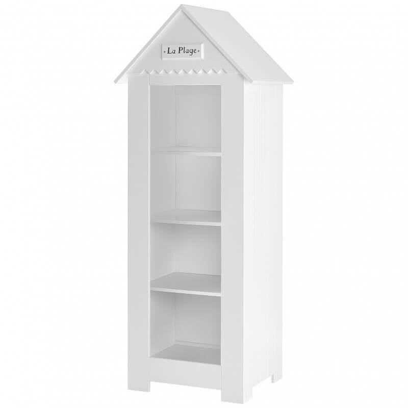 petite bibliotheque cabine de plage blanche pour chambre bebe