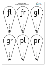More Letter Fans English Worksheets for Lower Primary