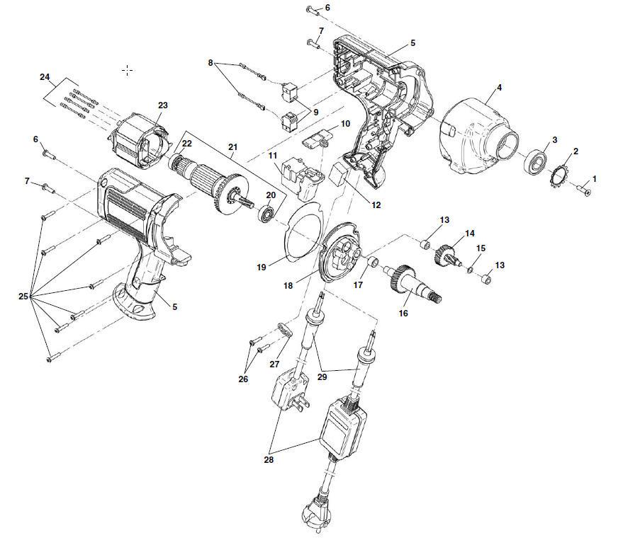 Ridgid Drill Parts Diagram