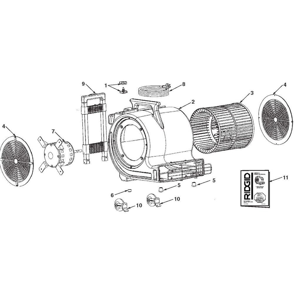 medium resolution of zoom in am2550 am2500 am25001 air mover assembly