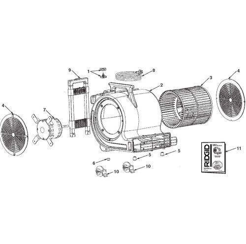 small resolution of zoom in am2550 am2500 am25001 air mover assembly
