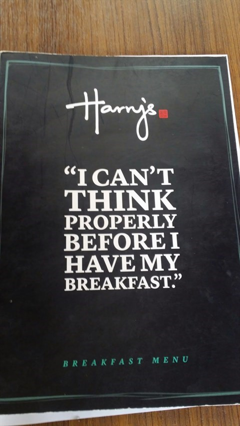 The Menu that explains it all - Harry's in Boat Quay