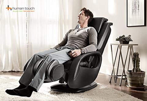 sharper image massage chairs big joe roma bean bag chair human touch recliner with foot and calf 100 satisfaction guaranteed